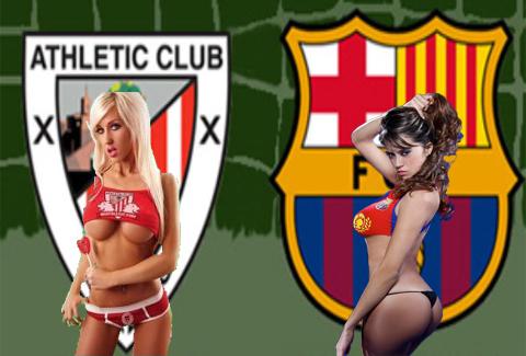Las chicas del Athletic de Bilbao y del Barça calientan la final de la copa del rey