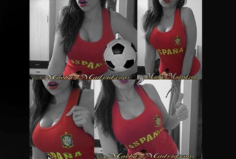 Animo a España en el Mundial mientras hago webcam